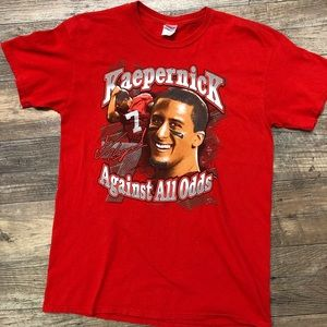 Colin Kaepernick #7 Sz Lg Red T-Shirt